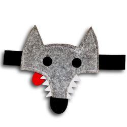 Thibert le Loup gris fond blanc ombre