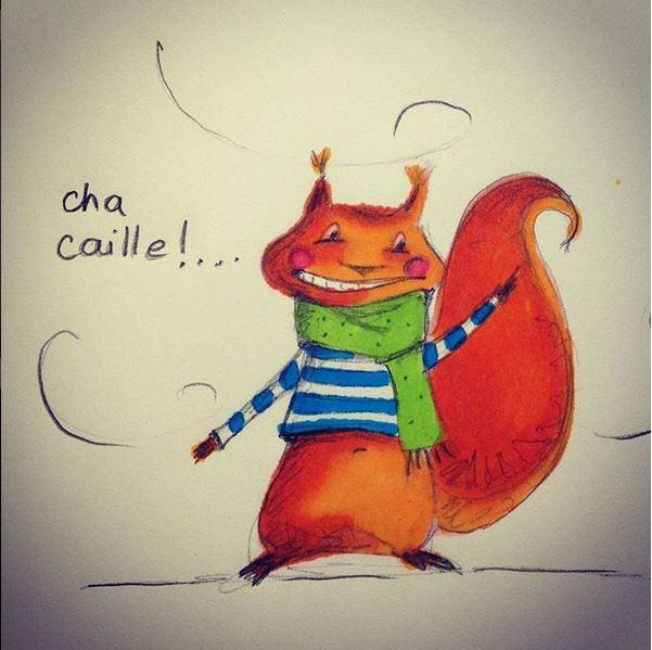 Gaëtan Ecureuil - Wonderarlette illustration - 12 10 2018