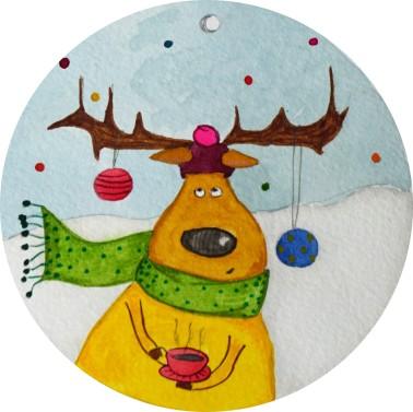 Déco Noël - avec pied photo - détail élan
